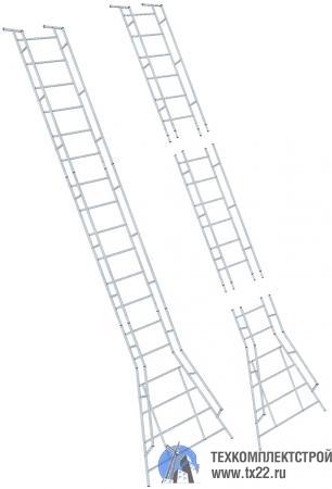 Фото товара Лестница переносная разборная ЛПРп 8 м