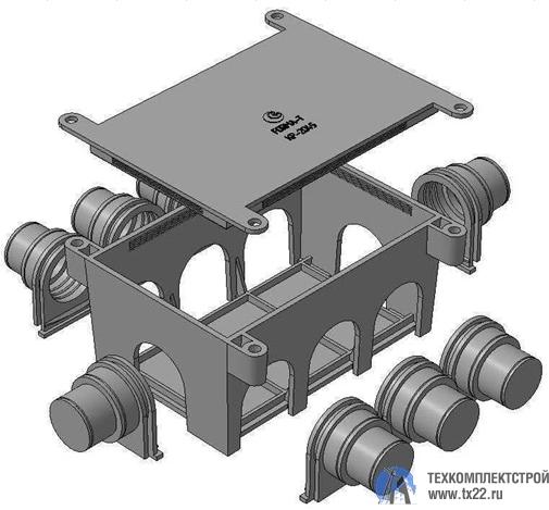 Фото товара Коробка разветвительная КР-2045 для заливки в бетон
