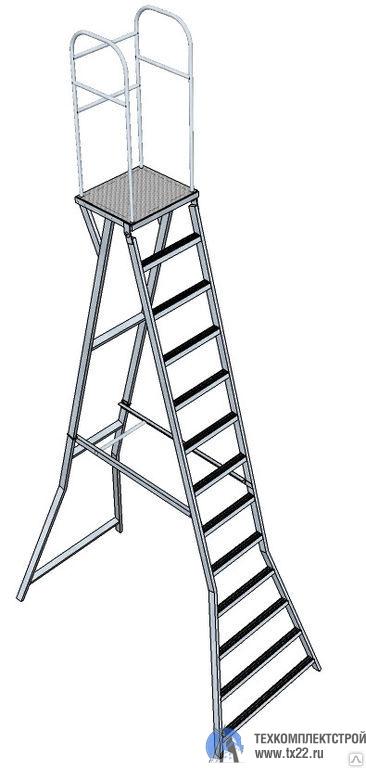 Фото товара Лестница с площадкой Л-312А 4м