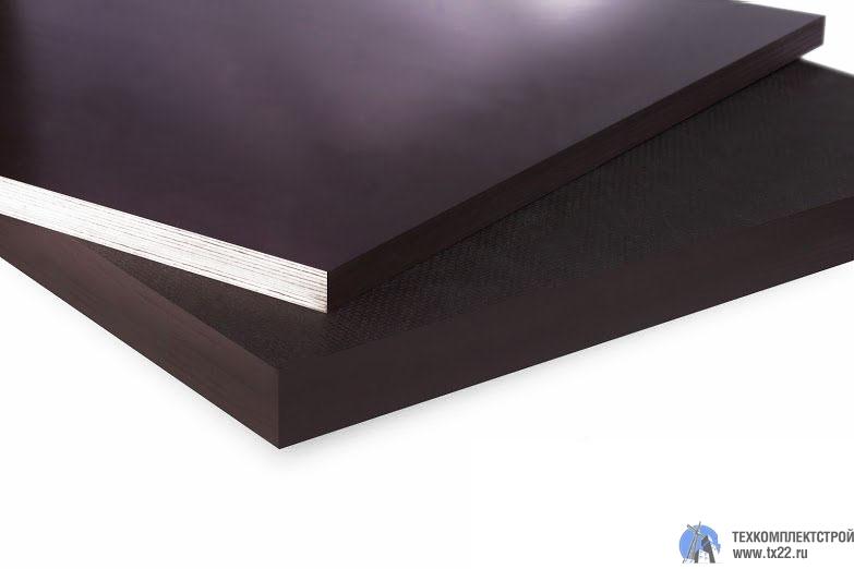 Фото товара Фанера ламинированная 24мм гладкая/гладкая